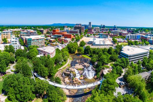 Aerial view of Downtown Greenville