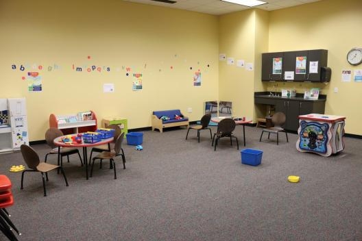 Enjoy the Play and Learn Center during your next visit to the Hughes Main Library.